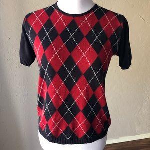 Vintage 80s JH Collectibles Argyle Sweater